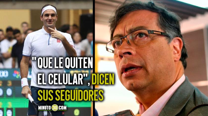 Gustavo Petro y Roger Federer