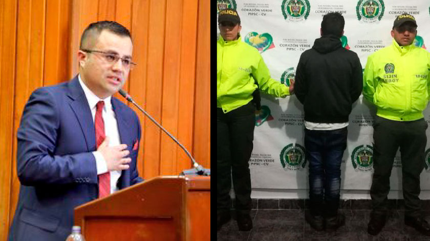 Soldado capturado por amenazar a candidato a la Gobernacion de Boyaca