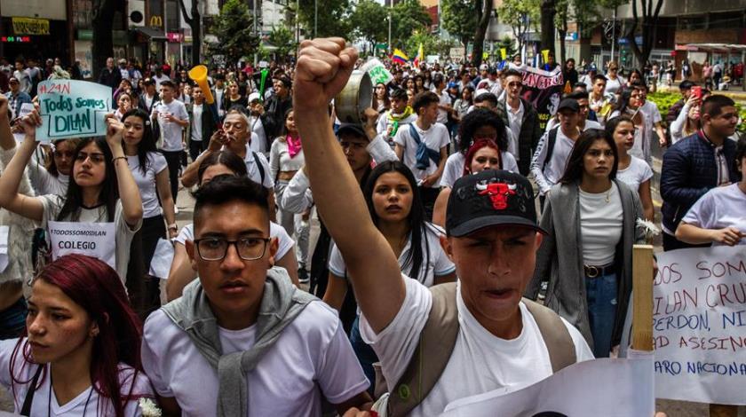marcha protestas colombia
