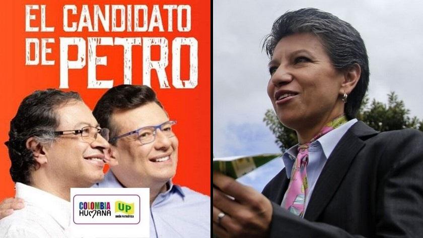 Claudia Lopez Holman Morris y Gustavo Petro