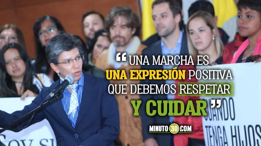 Este sera el protocolo de la Alcaldia de Claudia Lopez durante las protestas
