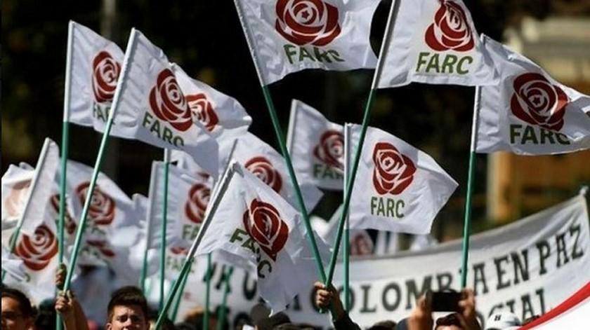 Manifestacion del partido Farc