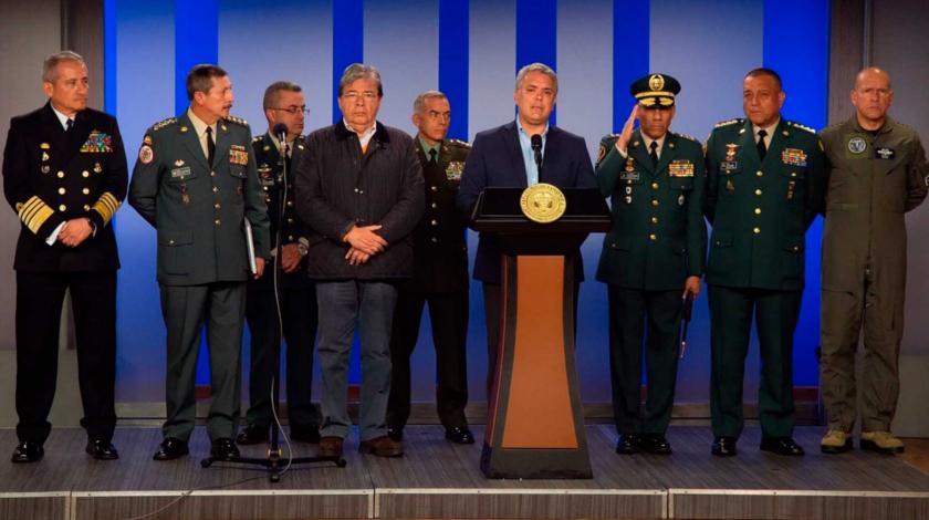 Presidente Ivan Duque y la cupula militar