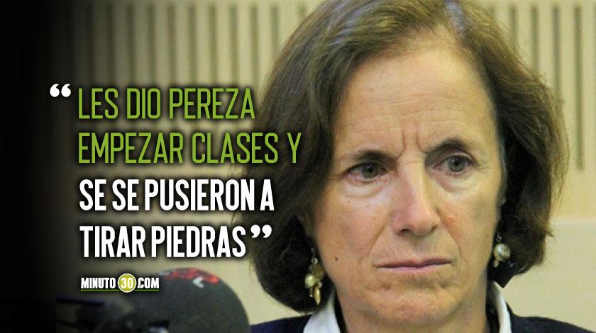 Salud Hernandez critica a manifestanets en Bogota