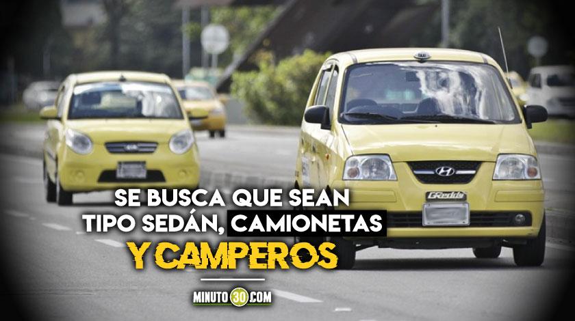 Taxis tipo zapatico decreto Gobierno