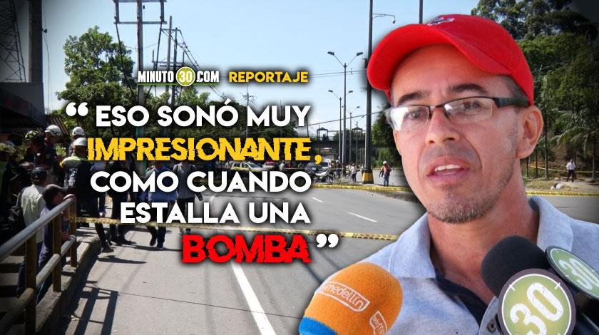 Testigos relatan como sucedio el desplome del cable del Metrocable Picacho