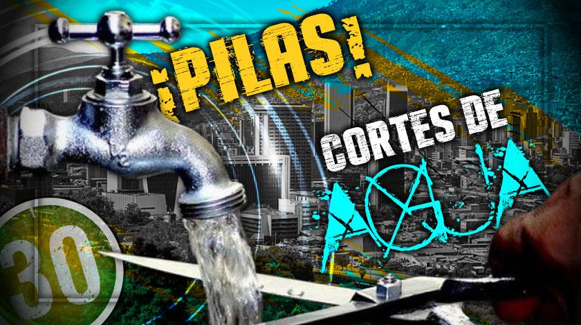 Corte de agua en Copacabana y Medellín