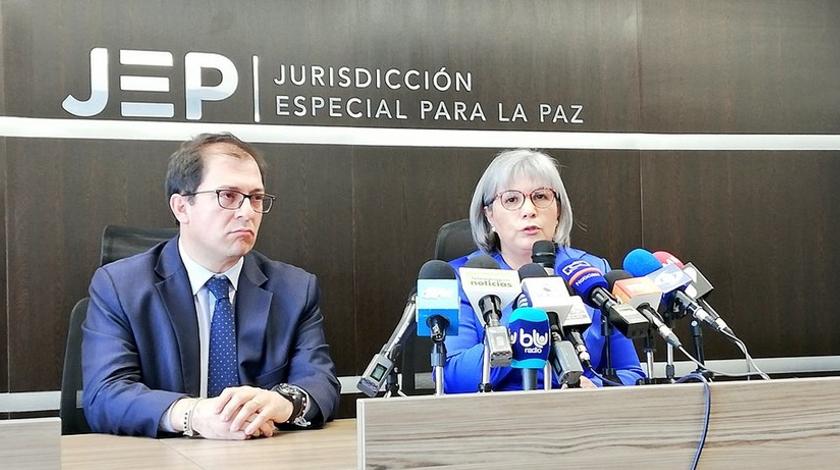 Nuevo fiscal general de la Nacion y la directora de la JEP