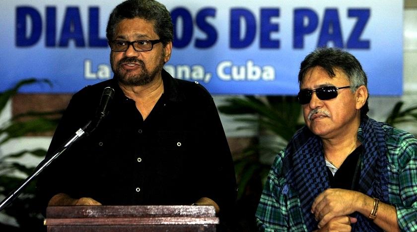 Iván Márquez y Jesús Santrich