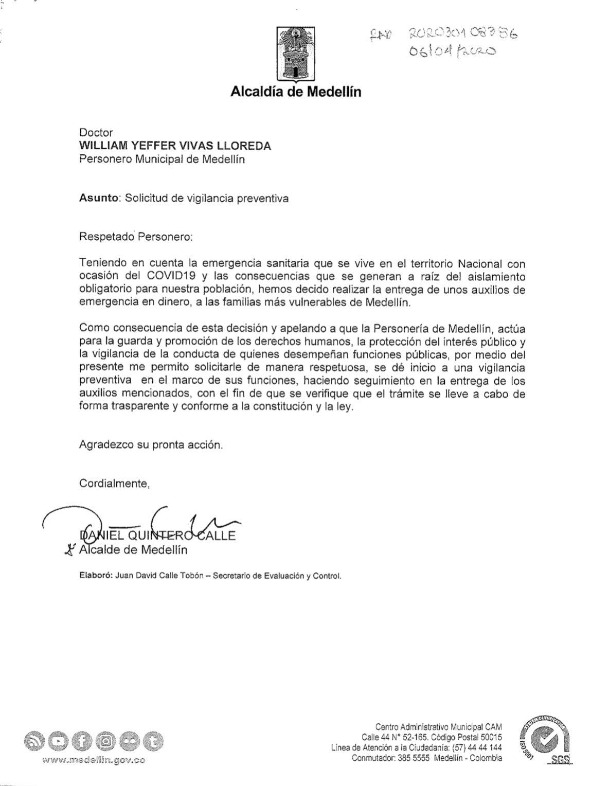 Carta Personería
