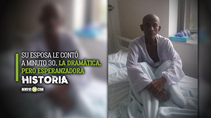 Colombiano con cancer que logro superar Coronavirus en Espana pide ayudar para regresar al pais