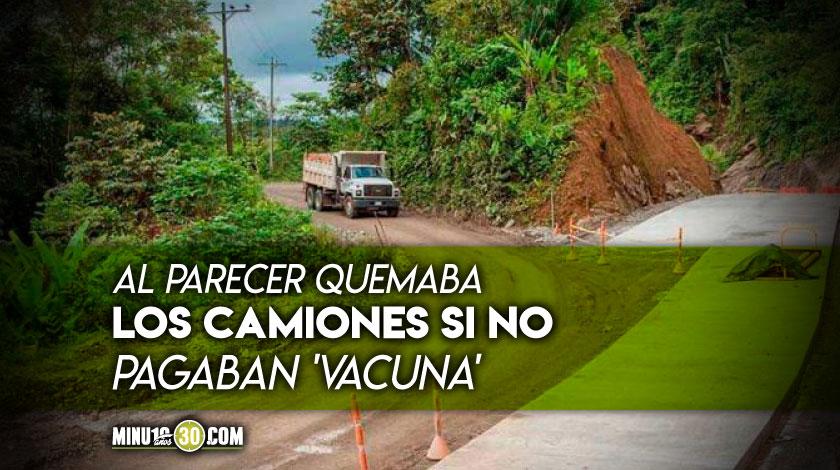 Extorsionista de camiones via Medellin Quibdo