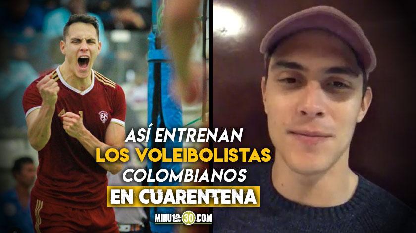 Voleibolista Andres Piza revelo anecdotas del entrenamiento virtual