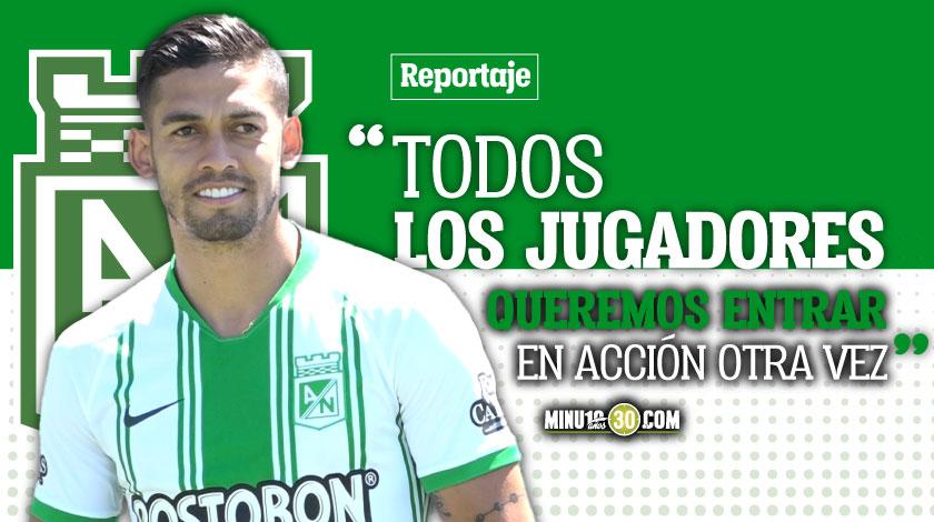 Andres Andrade no le teme a volver a jugar pero si tiene otros temores