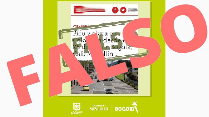 Desmienten pico y placa en la ciudad de Bogota noticias