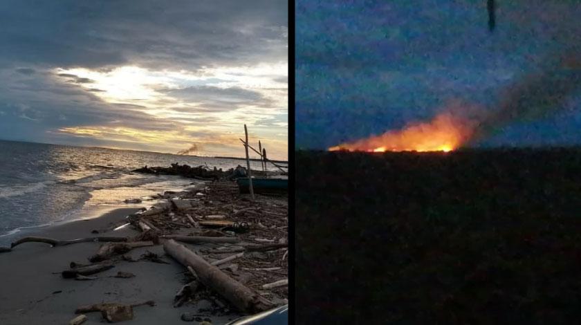 Incendio en el municipio de Necocli Antioquia