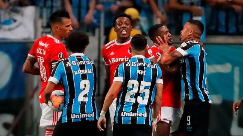 Pelea Copa Libertadores Gremio Inter