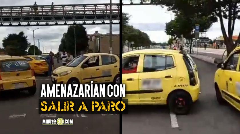 Taxistas bloquean calles de Bogota en rechazo al regreso de Uber 1