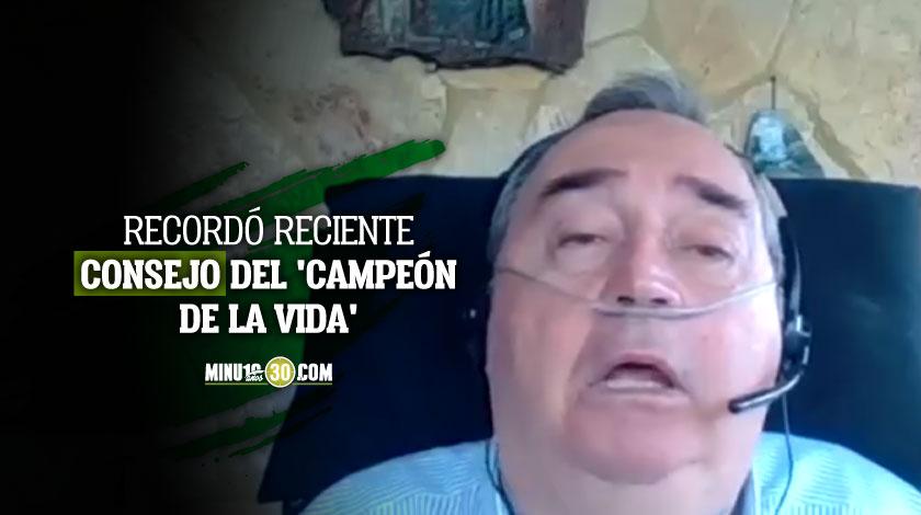 Atletico Nacional tambien le envio un mensaje de aliento a Luis Fernando Montoya