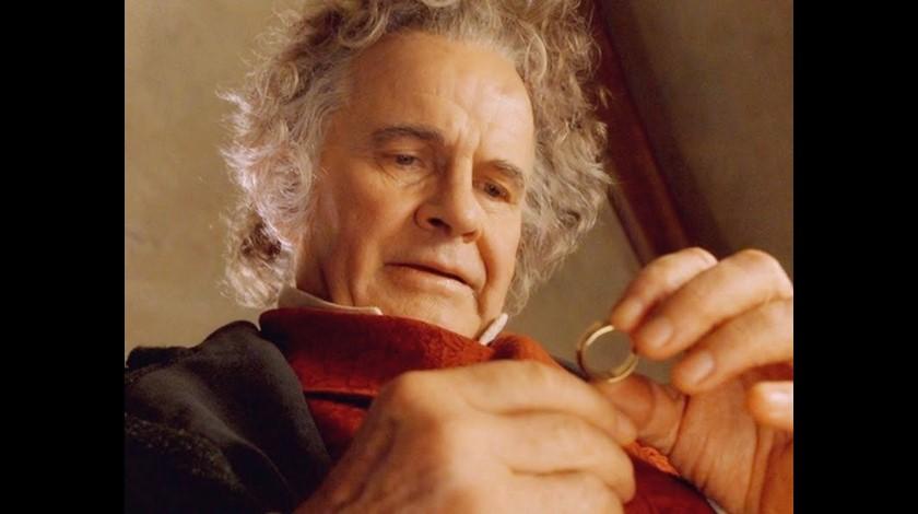 Ian Holm Bilbo Bolsón en 'El Señor de los Anillos'