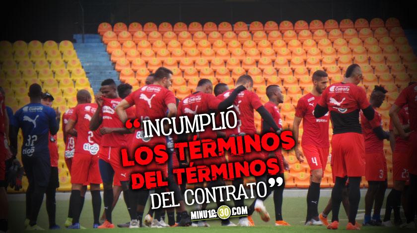A jugador de Independiente Medellin le terminaron contrato por justa causa