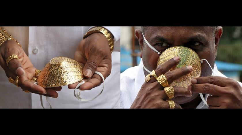 Tapabocas de oro