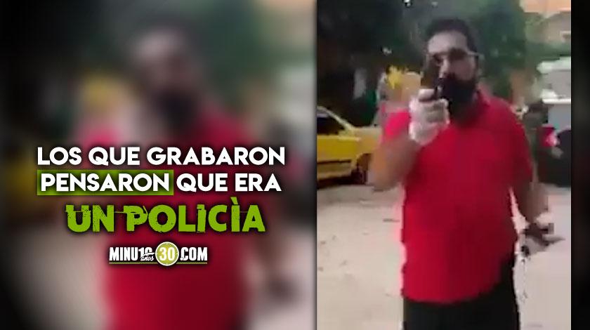 Que intolerancia Un comerciante armado comenzo a disparar contra unos venezolanos