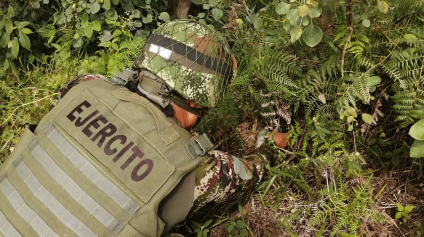 Ejercito encuentra explosivo del ELN Catatumbo soldado mina