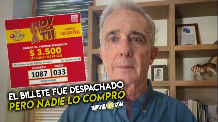 No comprar el billete con numero de preso de Uribe que cayo Loteria del Valle