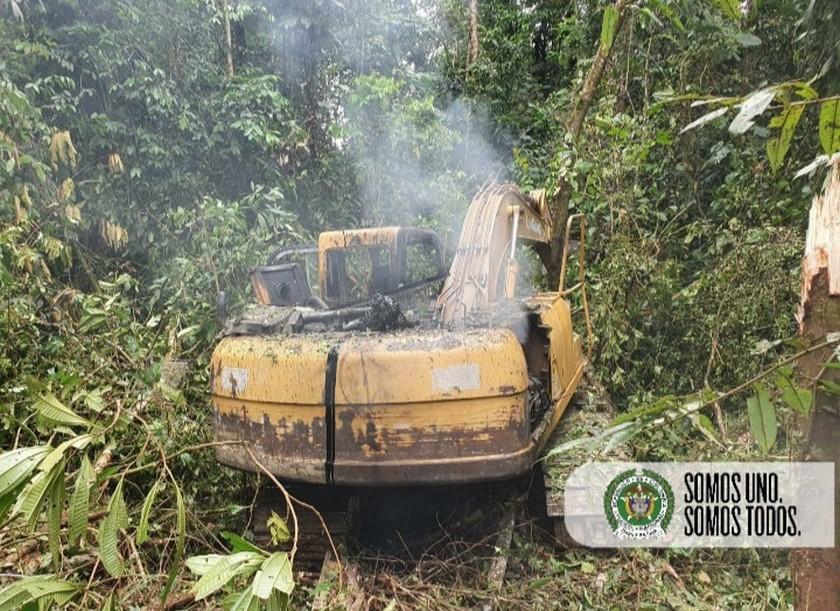 Operativo contra la mineria ilegal en el departamento de Choco 1