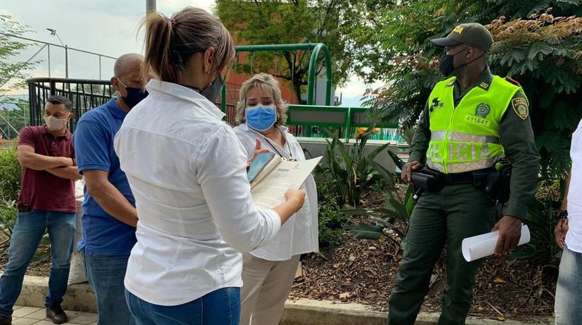 Operativos contra construcciones Medellin tiempo de pandemia