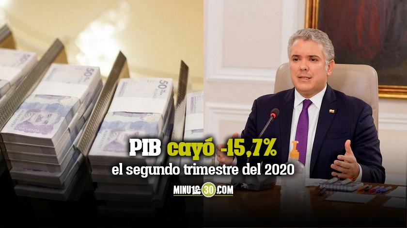PIB cayo 157 el segundo trimestre del 2020
