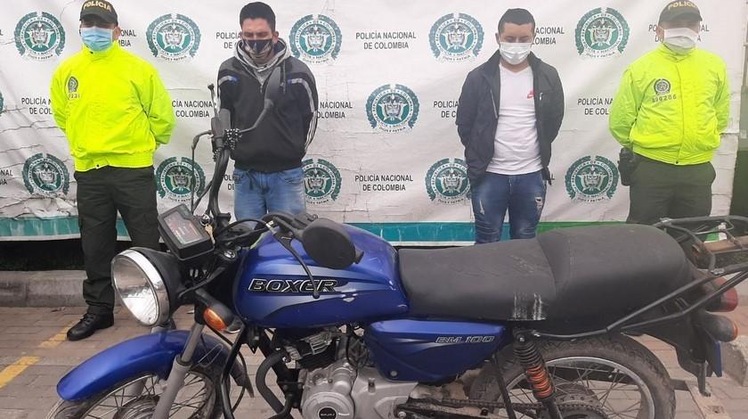 Capturados atentado Policía Bogotá