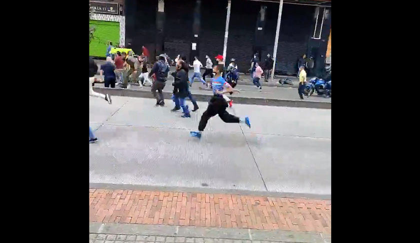 Disturbios en Bogotá protagonizados por vendedores en sector San Victorino