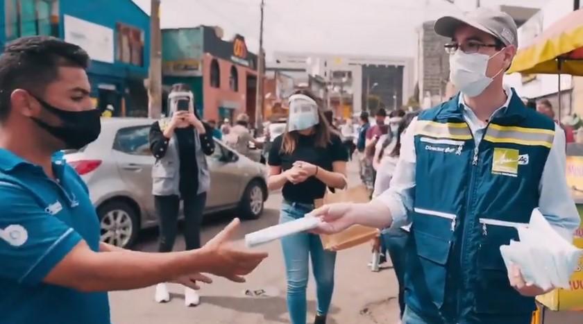 Entregan 4.000 tapabocas en La Bayadera