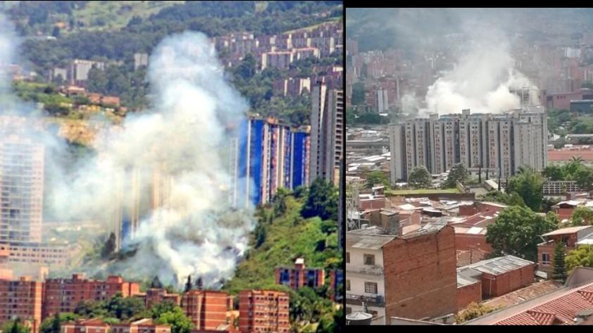 Incendios en Medellín 7 agosto