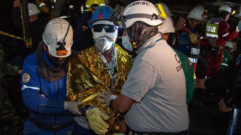 rescate de 3 mineros atrapados en Cundinamarca