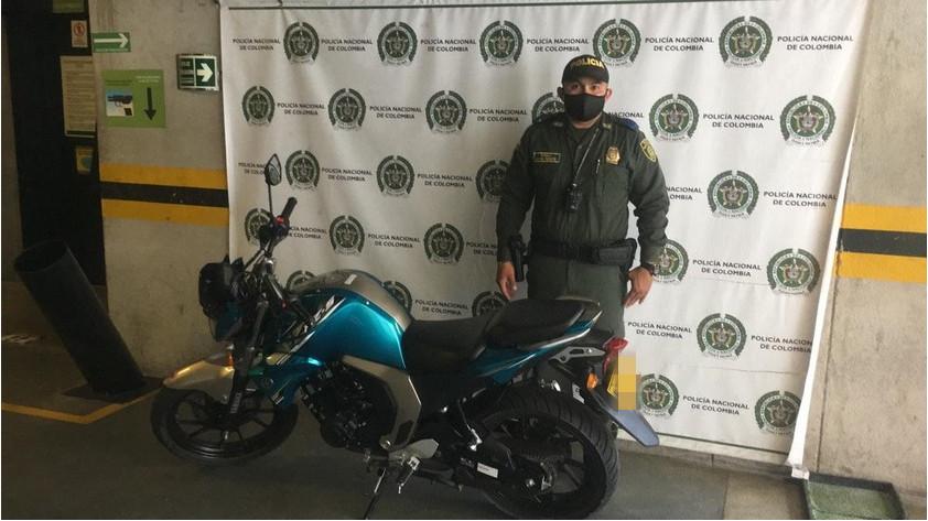 Moto recuperada en Buenos Aires
