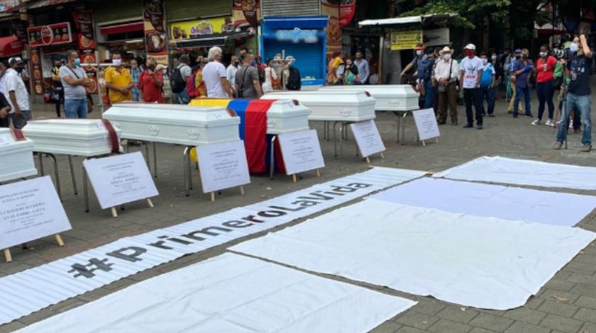 protestas por masacres en colombia