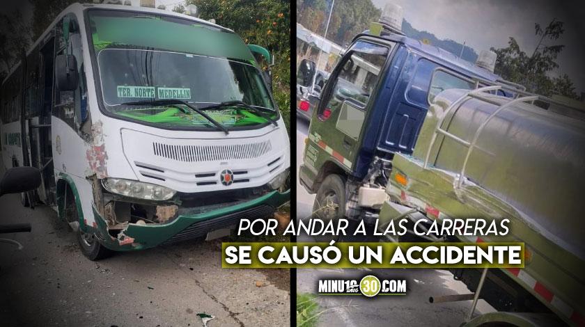 Accidente San Felix Medellin buses guerra del centavo
