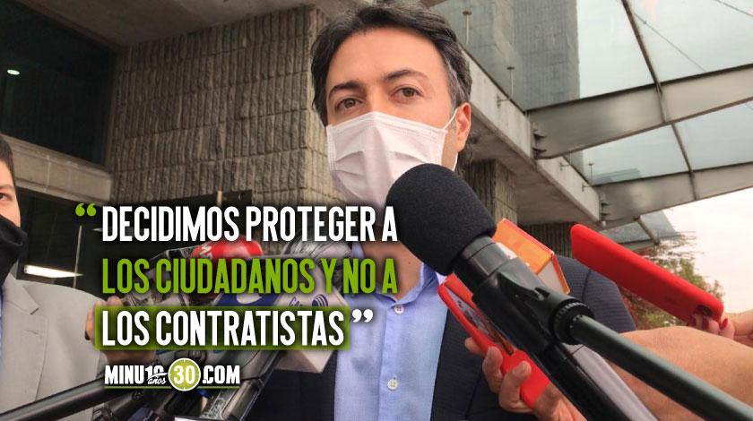 Alcalde Daniel Quintero tras radicar denuncia por documento irregularidades en Hidroituango