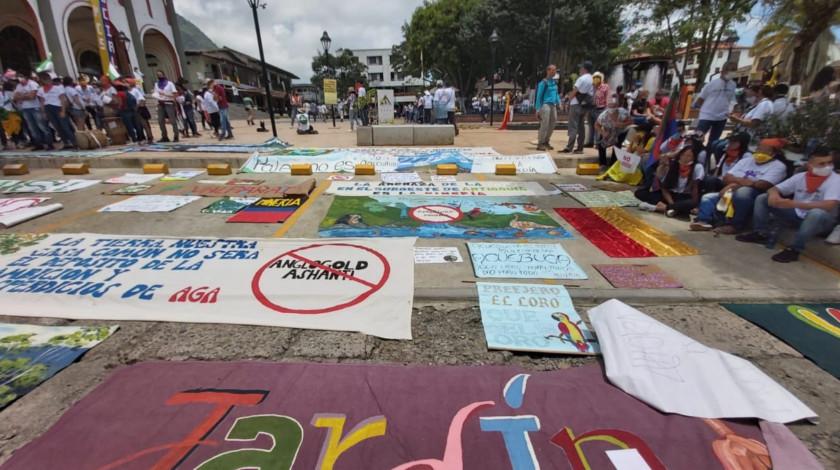 Comunidad de Tamesis Antioquia le dice no a la mineria suroeste noticias