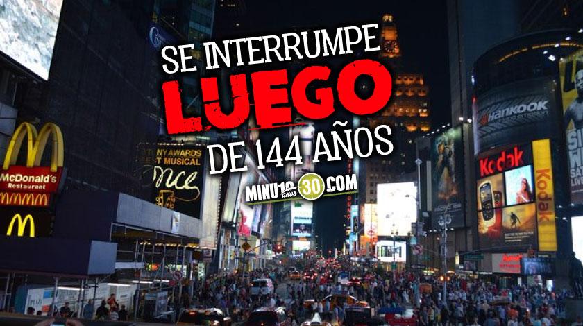 De forma virtual El Times Square no podra realizar la tradicional fiesta de fin de ano por culpa del covid