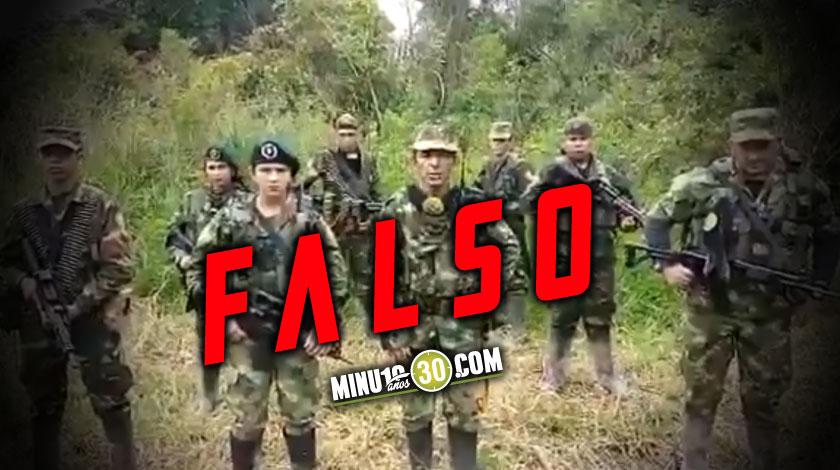 Desmienten video de las disidencias de las Farc en el suroeste de Antioquia