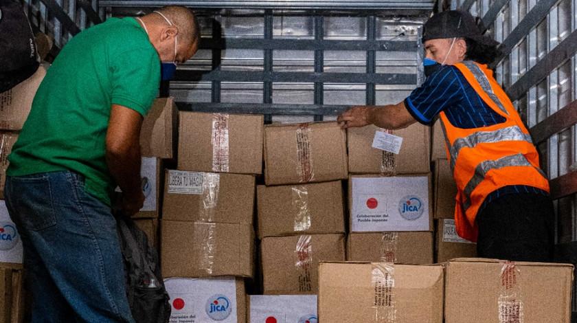 Donacion de Japon a Medellin elementos de proteccion