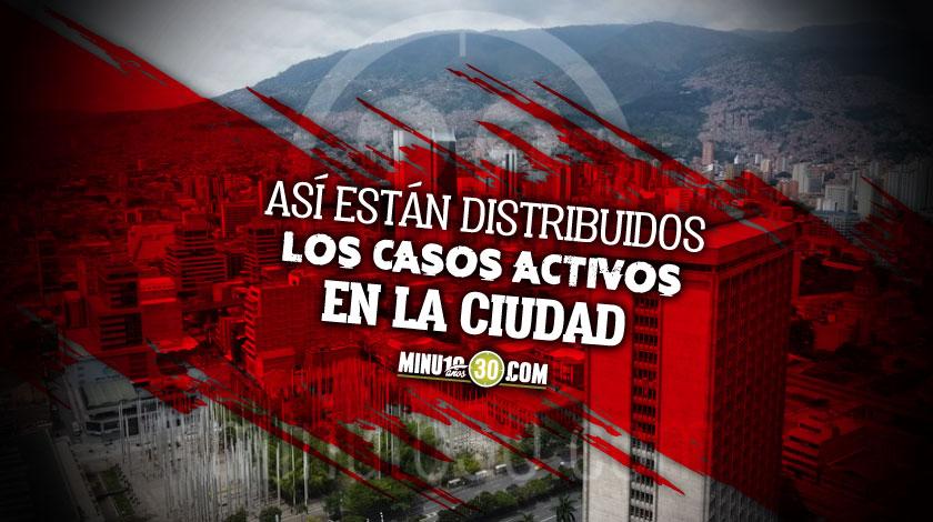 En Medellin solo queda una comuna con mas de 100 casos activos de covid 19