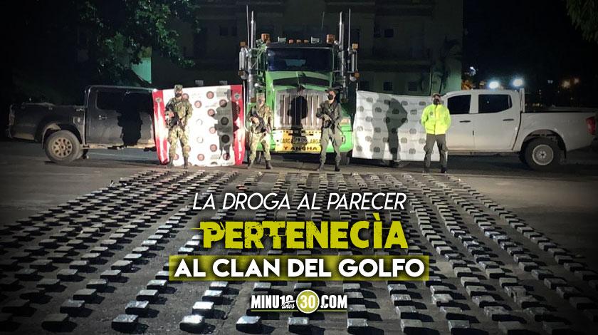Interceptado tractocamion con cocaina del Clan del Golfo Magdalena Medio Santander