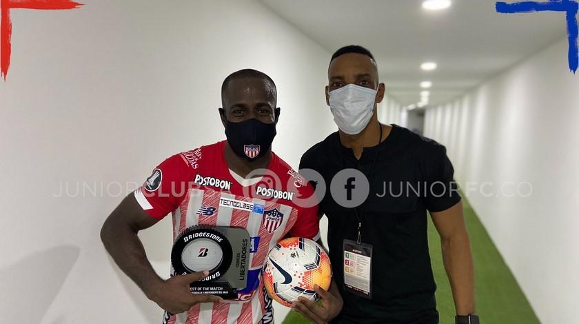 Junior Luis Amaranto Perea y Carmelo Valencia