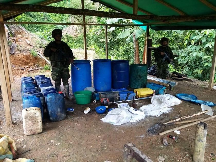 Laboratorio de cocaina cultivos de coca ELN Choco 2
