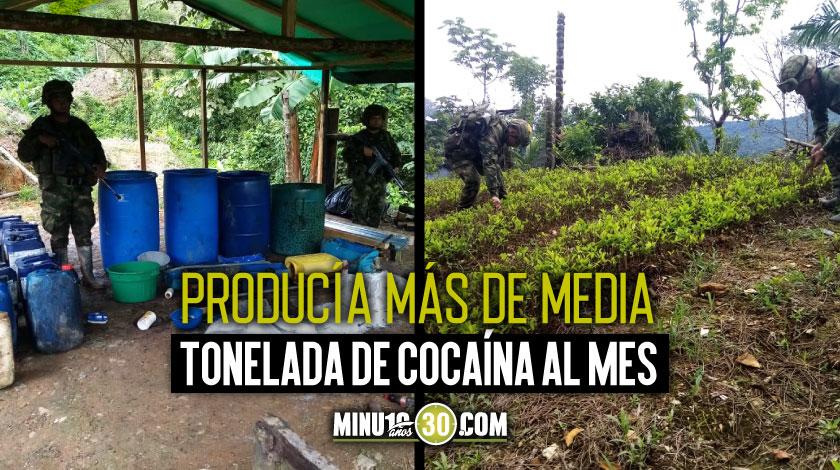 Laboratorio de cocaina cultivos de coca ELN Choco 3